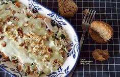 Απλή λαχανοσαλάτα σκέτη ή με σάλτσα γιαουρτιού - cretangastronomy.gr Dips, Cabbage Recipes, Greek Recipes, Nutella, Mashed Potatoes, Cauliflower, Macaroni And Cheese, Food And Drink, Vegan