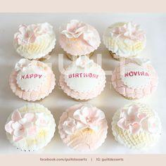 Simple Flowers Cupcakes