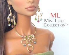 Moda bambola  lavanda opaco vetro  gioielli Fashion Royalty