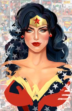 Wonder Woman by Whitney Jiar #Wonder_Woman #Comics #Comic_Book