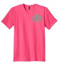 monogrammed shirt, monogrammed tee, mongrammed t shirt, personalized shirt, monogrammed tshirt