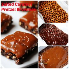 Salted caramel pretzel brownies