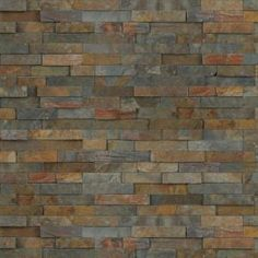 Titivate any residential or commercial area with MS International California Gold Ledger Panel Natural Slate Wall Tile. Great choice to update your walls. Flagstone Flooring, Slate Flooring, Slate Wall Tiles, Stone Accent Walls, Accent Wall Bedroom, Thing 1, Rock Wall, Swimming Pools Backyard, Natural Earth