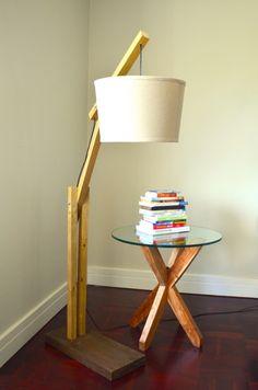 Wooden Boom Floor Lamp - The Saltbox
