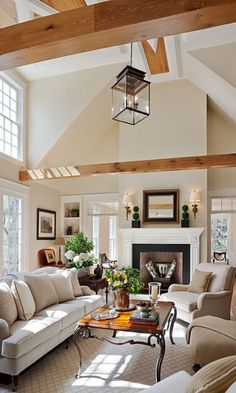 Love this living room! ~ Although Jeff would ask where the TV is supposed to go...