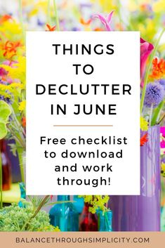 Stay on top of the clutter in your home with this list of 30 things to declutter in June. Simple decluttering projects to help keep decluttering easy and stress-free. There's a free printable list which you can access in the Simplify Library below. #simplify #declutter #decluttering Declutter Your Home, Organizing Your Home, Organization Ideas, First Aid Kit Items, Old Candles, Work Family, Carpe Diem, Minimalist Home, Easy Projects