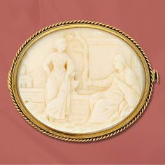 victorian cameos pics   Seated Male Figure with Standing Female in Ivory.