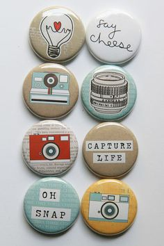 Say Cheese 2 Flair Buttons
