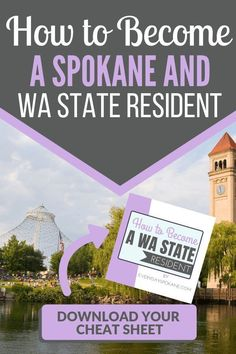 So you want to move to Washington? If you're new to Washington state, you'll need to become a Washington state resident! Here's a handy guide to moving to Washington and becoming a Spokane or Washington state resident Moving To Washington State, Moving To Seattle, Spokane Washington, Things To Know, Fun Things, Wa State, Evergreen State, Family Vacation Destinations, Amazing Adventures