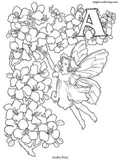 MAGIC-COLORING | Flower And Fairy Alphabet coloring book