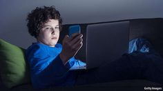 Screens before bedtime harm sleep. The effect is biggest for teenagers. Blue light in the two to three hours before bedtime is bad.