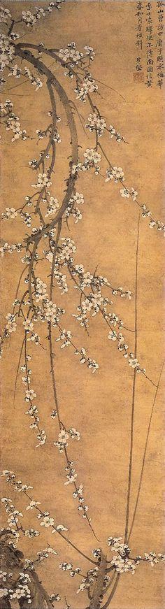 墨梅図, Muromachi period, Masaki Museum