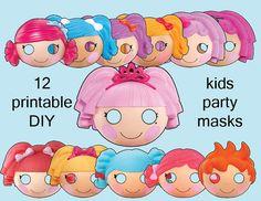 Lalaloopsy Party Mask Kit by QuirkyArtistLoft on Etsy, $3.60