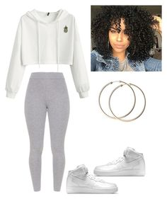 """Untitled #54"" by haileymagana on Polyvore featuring NIKE"