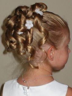 flower girl hairstyles, flowergirl hairstyles - flower girl updo