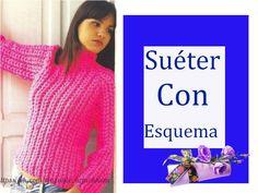 Delicadezas en crochet Gabriela: Suéter esquema y paso a paso