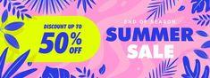 Special offer memphis summer sale banner... | Premium Vector #Freepik #vector #banner #frame #sale #abstract Summer Banner, 50 Off Sale, Sale Banner, Banner Template, Summer Sale, Banner Design, Memphis, How To Draw Hands, Templates