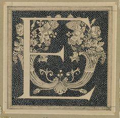 Capital letter E by James Joseph Jacques Tissot (1836–1902)