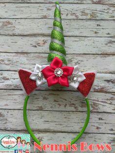 Diadema de unicornio/Unicorn headband Unicorn Headband, Hair Bows, Headbands, Christmas Ornaments, Holiday Decor, Jewelry, Unicorns, Head Bands, Blue Prints