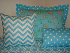 #blue custom dorm room bedding