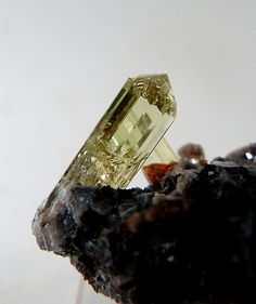 Minerals and Meteorites and Other Geology Stuff - APATITE (Calcium Phosphate) crystal from the...