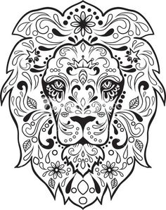 sugar skull image pdf - Google Search*vector*: