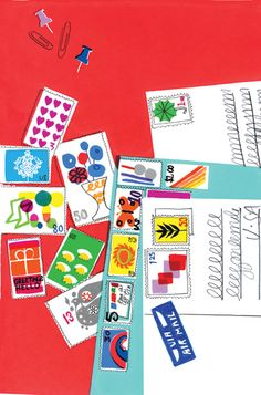 stamps and letters