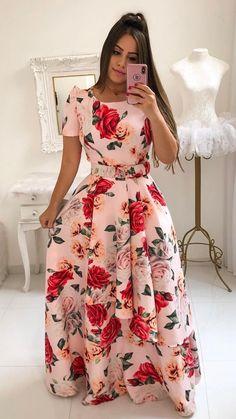 Trendy Dresses, Women's Fashion Dresses, Casual Dresses, Indian Fashion Trends, Trend Fashion, Kaftan Designs, Dress Flower, Long African Dresses, Vestido Dress