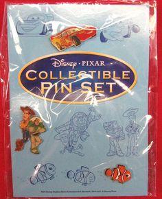 Disney Pixar Collectible 3 Pin Set- Woody/Buzz, Nemo & Lightening McQueen New!