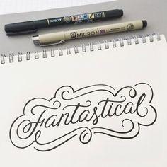 Fantastical - hand lettering by Wink & Wonder