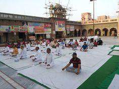 camp in Punjab with blessings of yoga guru baba Ramdev World Yoga Day, Baba Ramdev, International Yoga Day, Blessings, Street View, Camping, Campsite, Campers, Tent Camping
