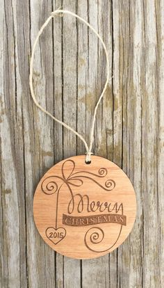 Wooden ornaments, engraved christmas ornament, laser engraved wooden tag, gift tags by StoneEffectsMD