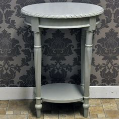 Funky Hall Tables black & cream stripe painted hall console table | funky hand