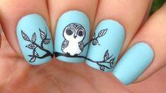 Nail Art Tutorial: Cute Tribal Owl