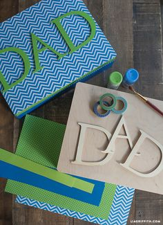 Create a special DIY Treature Box for Fathers Day