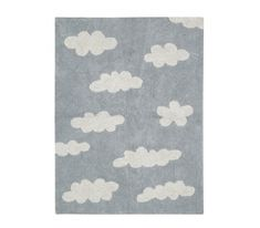 Lorena Canals Clouds Rug - Grey | Washable Rugs for Your Nursery!
