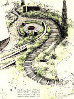 Landscape Design Sketches. Amazing Sketch Powered By Landscape Design  Sketches