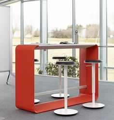 Small Training_Re-locatable Standing Height Table_Haworth Hoop