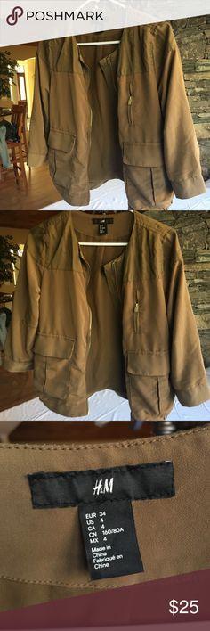 Utility jacket Super cute utility jacket size 4 H&M Jackets & Coats Utility Jackets