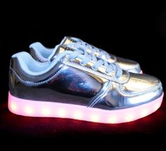 c0cd18819781e6 Women s Silver Edition LED Shoe - - BEAM Light up Shoes for Adults - 2  Festival