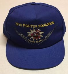 7e6375d8 Vtg 74th Fighter Squadron Hat Moody AFB Georgia Cap Flying Tigers Air Force  USA #AmericanUniformSales