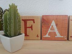 20210723_145924 Tuile, Boutique, Decorative Wooden Letters, Scrabble Letters, Painted Wood, Boutiques