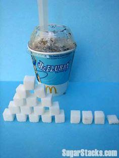 McDonald& Oreo McFlurry 12 oz cup Sugars: 73 g Calories from sugar) - sugar wall nursery - Sugar Walls, Food That Causes Inflammation, Gram Of Sugar, Bad Sugar, Sugar Sugar, Fresh Coffee Beans, How Much Sugar, Smoothie Makers, Best Blenders
