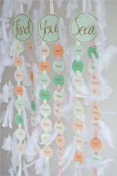 escort card ideas #weddingseating #escortcards http://www.weddingchicks.com/2013/05/23/romantic-mint-peach-and-gold-wedding-ideas/