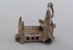 Opening Church Charm, Sterling Silver, Vintage Wedding, Marriage Bracelet Charm or Pendant. Anniversary Gift by LittleVintageCharmCo on Etsy