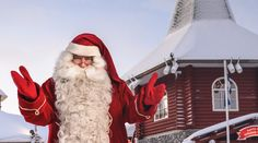 Christmas House Santa: meet the Official Santa Claus of the Arctic Circle in Christmas House in Santa Claus Village in Rovaniemi in Lapland Finland: Father Christmas Finnish Lapland