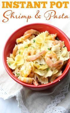 This shrimp instant pot recipe is so yummy and makes for a quick and easy dinner. instant recipes | instant pot recipes | pressure cooker shrimp
