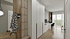 Małe mieszkanie może być pakowne i przytulne. Tylko trzeba dobrze zaaranżować przestrzeń. Projekt Agnieszki Grabowskiej dla Grupy Moderator Divider, Room, Furniture, Home Decor, Bedroom, Decoration Home, Room Decor, Rooms, Home Furnishings