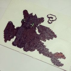 Toothless How To Train Your Dragon perler beads by ddralson