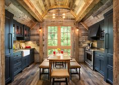 Bunk House with Rustic Interiors